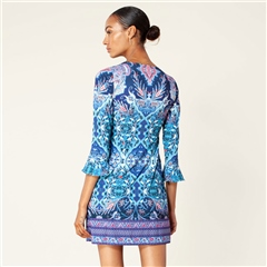 Hale Bob 'Lucy' Beaded Paisley Print Jersey Dress