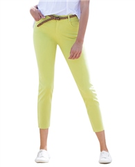 Marble Slim Fit 7/8th Jeans - Lime