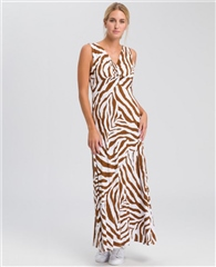 Marc Aurel Zebra Print Jersey Maxi Dress