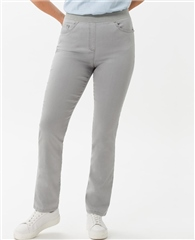 Raphaela by Brax 'Pamina' Trousers - Light Grey