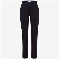 Raphaela by Brax 'Pamina' Pull-On Cotton Trousers - Dark Blue