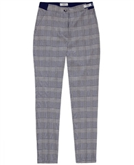 Brax 'Pary' Houndstooth Print Trousers - Navy