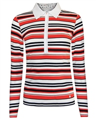 Brax 'Cecille' Striped Polo Shirt