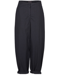 Oska 'Matia' 100% Cotton Cropped Wide-Leg Trousers - Cosmos