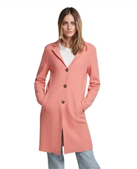 Oui Lightweight Virgin Wool Coat - Crabapple