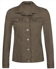 Robell 'Happy' Pocket Detail Jacket - Dark Taupe