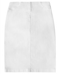 Robell 'Maraike' 62cm Pull On Denim Skirt - White