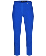 Robell 'Bella' Jacquard 7/8th Cut-Off Trousers - Royal