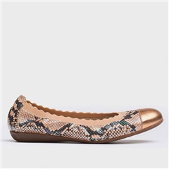 Wonders Scallop Elastic Snakeprint Pumps