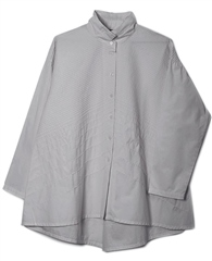 Yacco Maricard Cotton Broad Pintuck Shirt - Dove