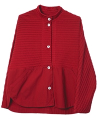 Yacco Maricard Cotton Jersey/Saifu Blend Pintuck Shirt - Apple Red