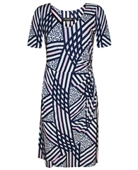 Georgede Abstract Stripe Wrap Dress