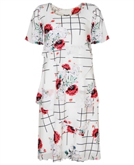 Georgede Floral Layered Dress