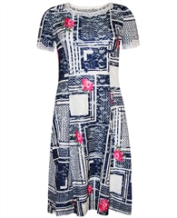 Georgede Multi Print Lace Dress