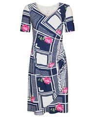 Georgede Multi Print Wrap Dress
