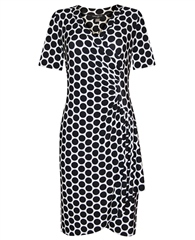 Georgedé Spot Print Wrap Dress