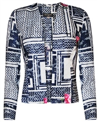 Georgede Multi Print Lace Jacket