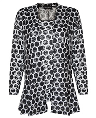 Georgede Spot Print Lace Jacket And Camisole Twinset