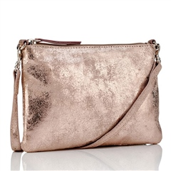 Hill and How Metallic Leather Cross-Body Bag