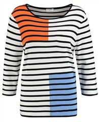 Gerry Weber 3/4 Sleeve Striped Jumper