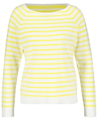 Gerry Weber Contrast Back Striped Jumper - Yellow