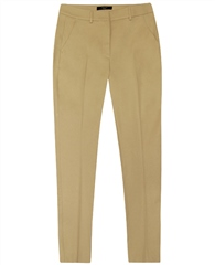 MaxMara Weekend Weekend Straight Fit Cropped Trousers - Sand