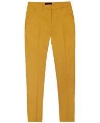MaxMara Weekend Weekend Straight Fit Cropped Trousers - Yellow