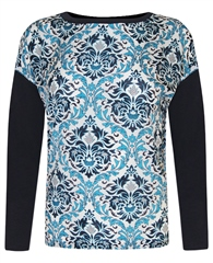 MaxMara Weekend Baroque Print Long Sleeve T-Shirt