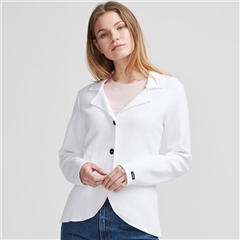 Holebrook 'Pernilla' 100% Cotton Jersey Jacket - White