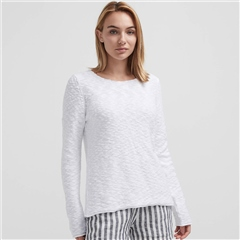 Holebrook 'Amelie' 100% Cotton Crewneck Slub Jumper