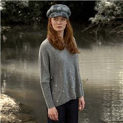 Leo & Ugo Embellished Wool And Cashmere Blend Jumper