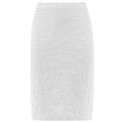 Robell 'Christy' 62cm Jacquard Skirt - White