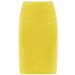 Robell 'Christy' 62cm Jacquard Skirt - Yellow