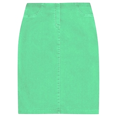 Robell 'Maraike' 62cm Pull On Skirt - Light Green