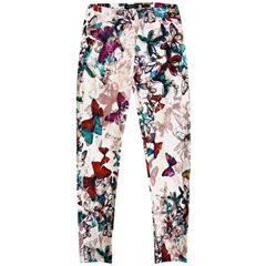 Robell 'Rose' 68cm Butterfly Print Cropped Trousers