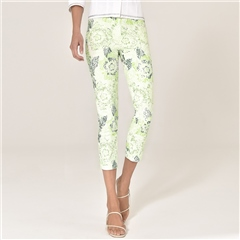 Robell 'Rose' 68cm Faded Print Cropped Trousers