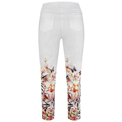 Robell 'Bella' 68cm Pull On Floral Print Cropped Trousers