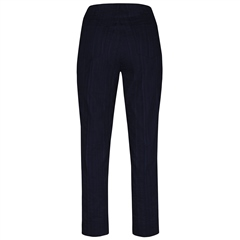 Robell 'Bella' 68cm Seersucker Cropped Trousers - Navy