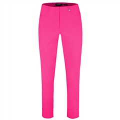 Robell 'Bella' 68cm Pull On Cropped Trousers - Hot Pink