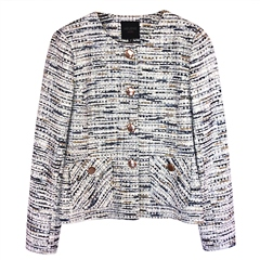Helene Berman Metallic Thread Button Detail Jacket