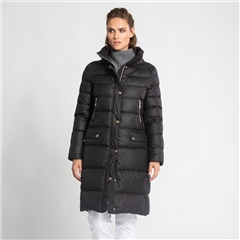 Schneiders 'Mandy' Padded Long Coat - Black