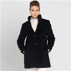 Schneiders 'Victoria' Wool/Cashmere Blend Classic Coat - Navy