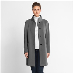 Schneiders 'Tilda' Long Wool Coat - Grey
