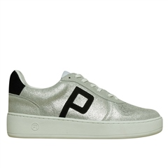 Philip Hog 'Emma' Leather Trainers - Silver Black