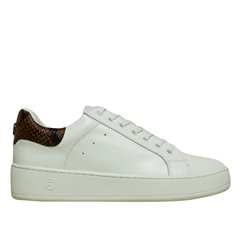 Philip Hog 'Lova' Snake Detail Leather Trainers