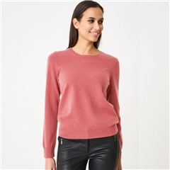 Repeat 100% Organic Cashmere Round Neck Jumper - Dusty Rose