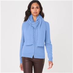 Repeat 100% Organic Cashmere Scarf - Med Blue