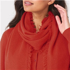 Repeat 100% Organic Cashmere Scarf - Paprika