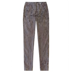 Robell 'Bella' 78cm Snake Print Trousers - Taupe