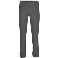 Robell 'Bella' 68cm Cropped Trousers - Charcoal